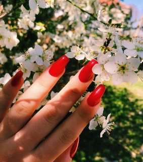 alternative, red and nails