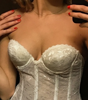 white, vintage and corset