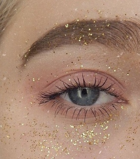 shimmer, brows and teardrops