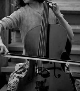 cello, classical and black and white