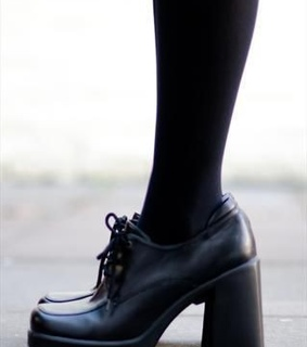 heels, style and grunge