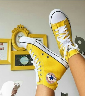 converse, yellow shoes and shoes