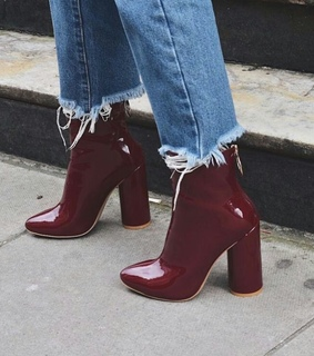 boots, red and vintage