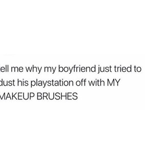 goals, makeup brushes and couples