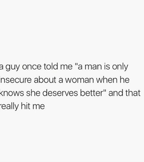 better, men and insecure