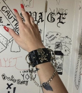 edgy, bracelet and grungy