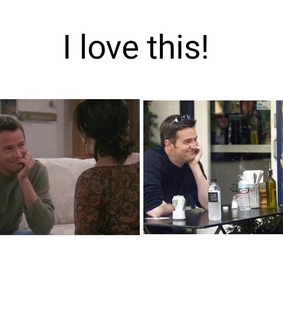 chandler bing, matthew perry and chandler and monica