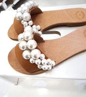 fashion, pearls and sandals