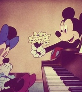 flowers, minnie mouse and cute