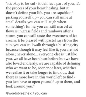 moving on, heartbreak and quote