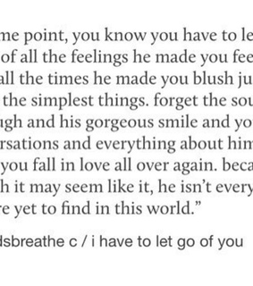 letting go, heartbreak and quote