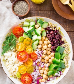 salad, healthy and sns