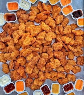 fried, nugget and fat