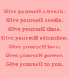 attention, pink and give self a break