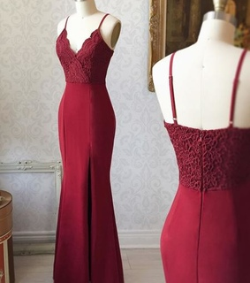 bridesmaid dresses, burgundy lace dresses and prom dresses 2019