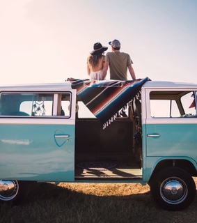 road trips, vintage photo and hippie