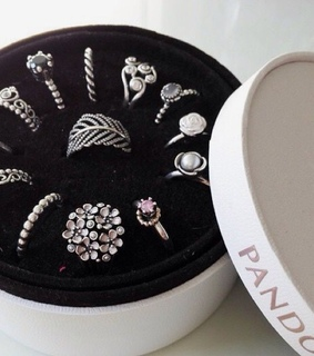 pandora, promise ring and diamond