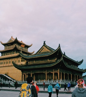 sichuan, china and temple