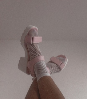 pink, sandal and pastel