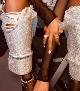nails, style and diamond
