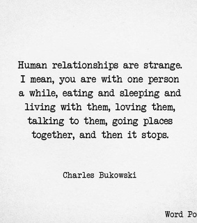 relationships, charles bukowski and text