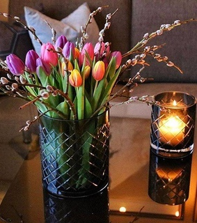 bouquet, pink tulips and tulips