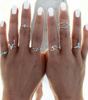 rings, blue and shapes