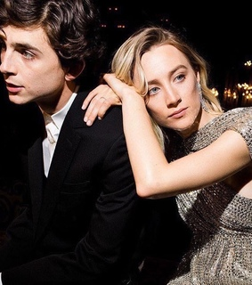 saoirse ronan, cute and timothee chalamet