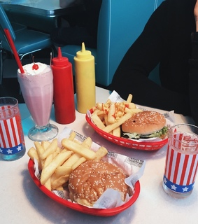 aesthetic, burgers and food