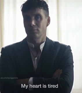 words, tired and peaky blinders
