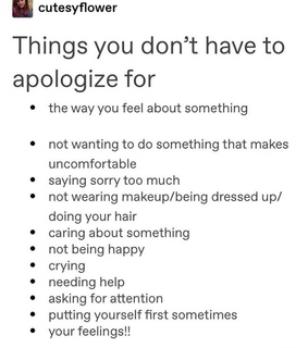 therapy, not sorry and tumblr texts