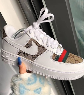 gucci, white and nude
