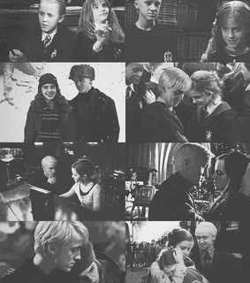 dramione, feltson and black and white