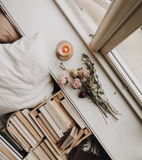 reading, candle and window