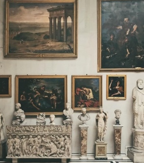 paint, marble and artists