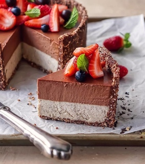 food, mousse and chocolate