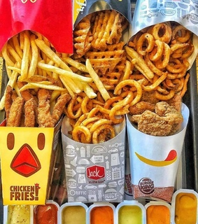 kfc, mcdonald and french fries