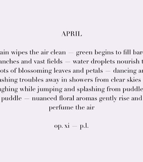 april, month and poetry