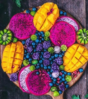 fruit, tropical and platter