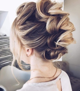 blonde, style and braid