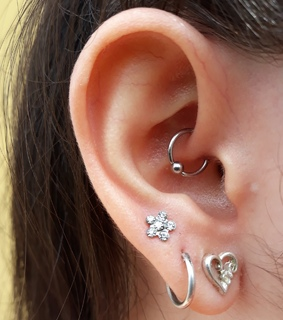 earrings, daith and piercing