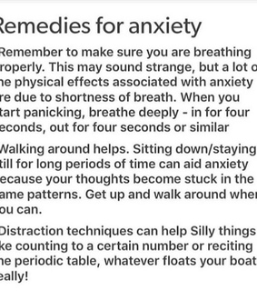 mindfulness, reminder and panic attacks