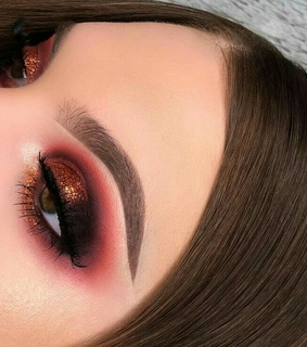 inspiration, beauty and makeup red