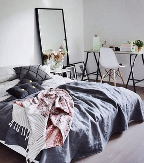 minimalista, home and bed
