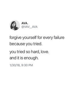 and it is enough, poetry and quote