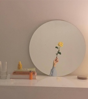 aesthetic, miror and cute