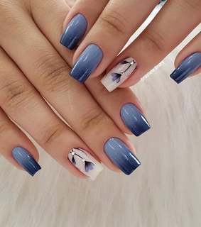 nail art, gradient and sweet