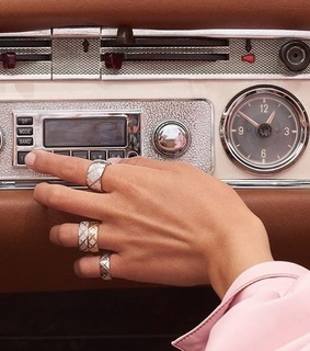 car, old car and rings