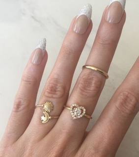 celestial ring, star ring and ring