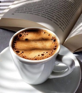 coffee, reading and coffee cup